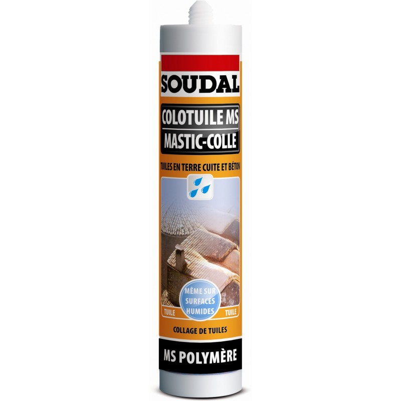 Mastic colle colotuile soudal ms polym re 290 ml terracotta - Colle ms polymere ...